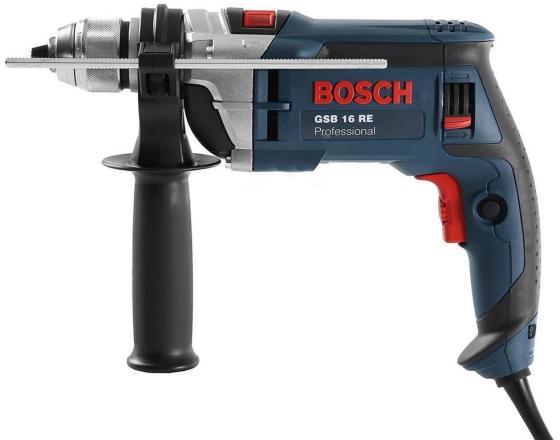 Ударная дрель Bosch GSB 16 RE БЗП 750Вт дрель электрическая bosch gsb 21 2 re 0 601 19c 500 ударная