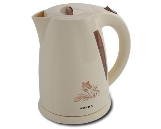 Чайник Supra KES-1705 2200 Вт 1.7 л пластик бежевый supra kes 2301 grey