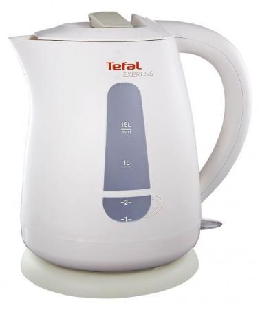 Чайник Tefal KO 29913E 2200 Вт белый 1.5 л пластик миксер ручной tefal tefal ht300188 250 вт белый желтый