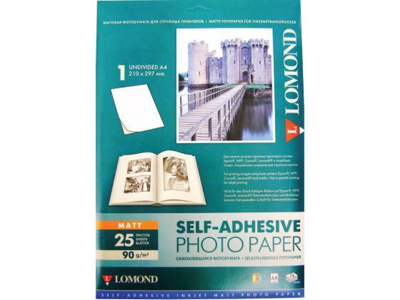 Фото - Фотобумага Lomond А4 90г/кв.м матовая смоклейящаяся для струйной печати 25л 2210003 фотобумага