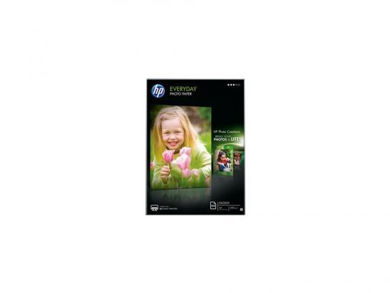 Фото - Фотобумага HP A4 200г/м2 полуглянцевая 100л Q2510A этикетки avery zweckform l7160 100 a4 63 5x38 1мм 21шт на листе 70г м2 100л белый самоклей универсальная