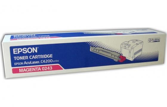 Тонер-Картридж Epson C13S050243 для AcuLaser C4200 пурпурный 8500стр cartridge chip toner for epson aculaser c2600dn