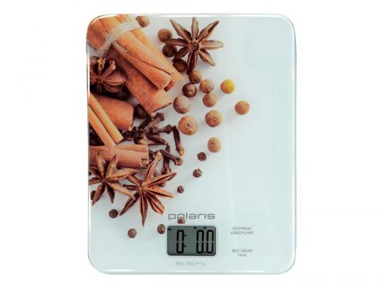 Весы кухонные Polaris PKS0832DG белый