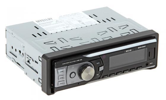Автомагнитола Mystery MAR-878UC бездисковая USB MP3 FM SD MMC 1DIN 4x50Вт черный автомагнитола rolsen rcr 210g бездисковая usb mp3 fm sd mmc 1din 4x45вт черный