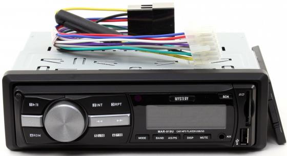 Автомагнитола Mystery MAR-919U USB MP3 SD MMC без CD-привода 1DIN 4x50Вт пульт ДУ черный mystery mar 707u cd mp3 usb sd