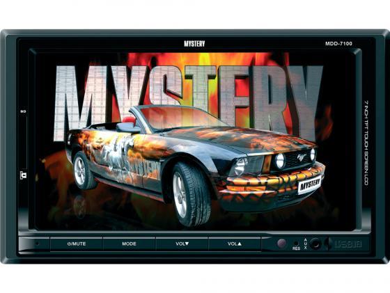 Автомагнитола Mystery MDD-7100 7 USB MP3 FM RDS SD MMC 2DIN 4x50Вт черный автомагнитола mystery mdd 6270nv usb cd mp3 dvd sd mmc 2din 4x50вт пульт ду черный