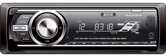 Автомагнитола Mystery MCD-697MPUC CD MP3 FM USB SD MMC 1DIN 4x50Вт черный mystery mcd 988mpu