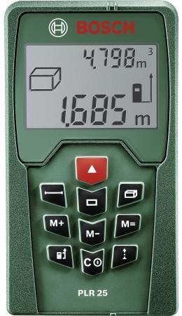 Лазерный дальномер Bosch PLR 25 дальномер bosch plr 40 c 0603672320
