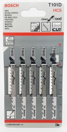 Лобзиковая пилка Bosch T101D HCS 5шт hcs hcs hc077awine26