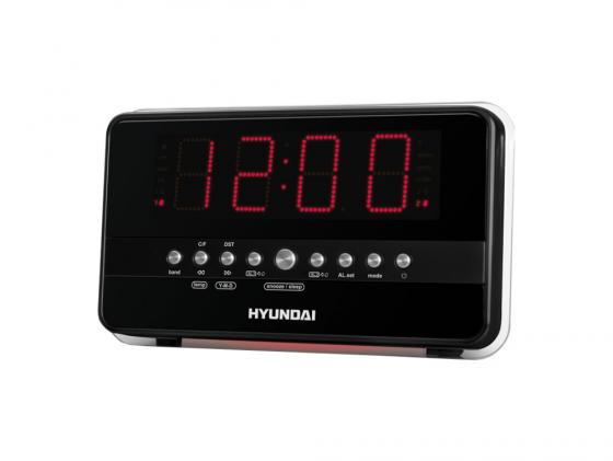 цена на Часы с радиоприемником Hyundai H-1549 серебристо-оранжевый
