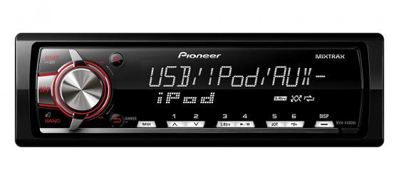 Автомагнитола Pioneer MVH-X460UI бездисковая USB MP3 FM RDS 1DIN 4x50Вт черный автомагнитола kenwood kmm 103ry usb mp3 fm rds 1din 4х50вт черный