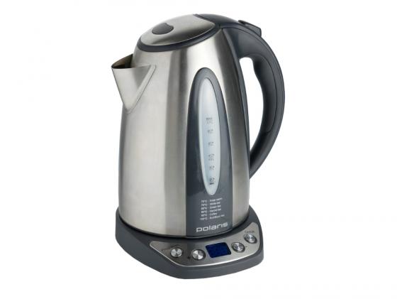 Чайник Polaris PWK 1783CAD 2200 Вт 1.7 л металл серебристый чайник polaris pwk 1749ca 2200 вт бордовый 1 7 л нержавеющая сталь