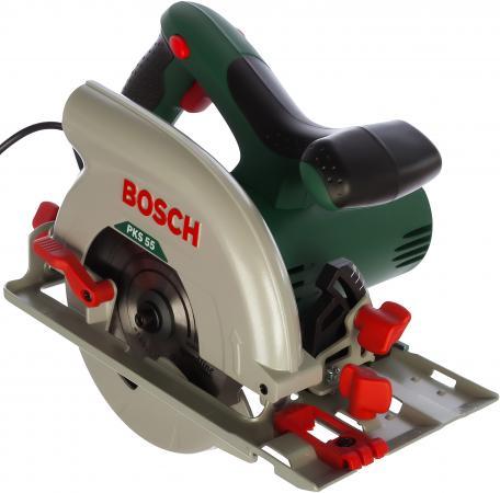 Циркулярная пила Bosch PKS 55 аккумуляторная дисковая пила bosch pks 18 li 2 5ah x1 06033b1302