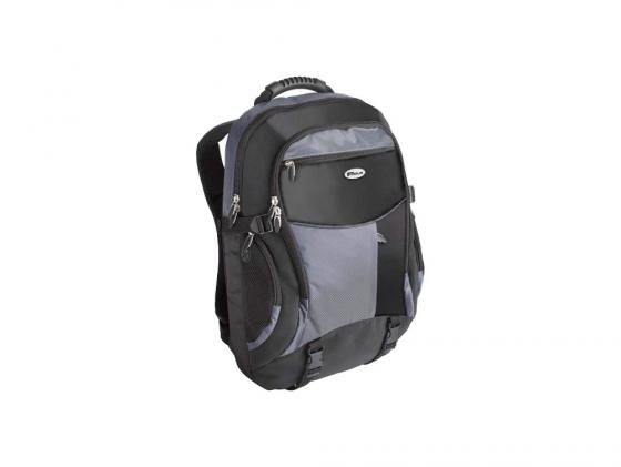 """Рюкзак для ноутбука 17"""" Targus TCB001EU нейлон черно-синий цена и фото"""