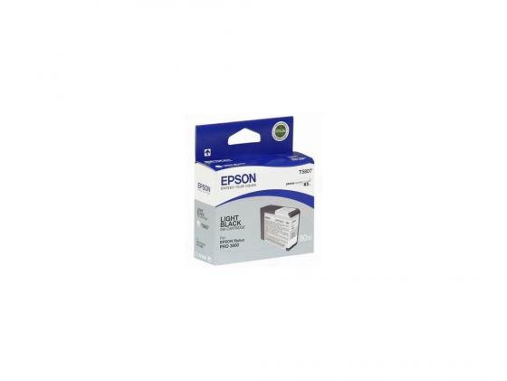 Картридж Epson T580700 для Stylus Pro 3800 серый 320стр картридж epson c13t580b00 для epson stylus pro 3880 vivid light magenta