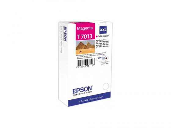 Картридж Epson С13Т701340XXL для WP 4000/4500 Series пурпурный 3400стр картридж epson c13t70244010xl для wp 4000 4500 series желтый 2000стр
