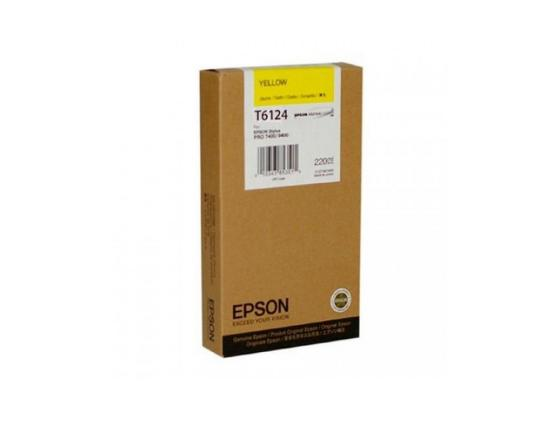 Картридж Epson C13T612400 для Stylus Pro 7400/9400 желтый 220мл t5678 t5674 for epson stylus pro 9400 printer ink cartridge with resettable chip and chip resetter 2 4 color 350ml t5678