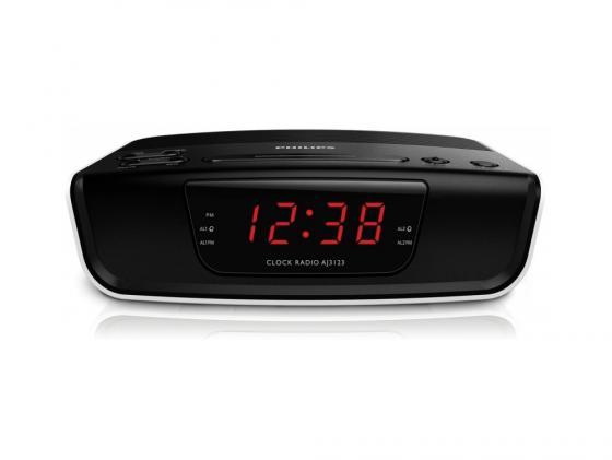 Радиобудильник Philips AJ3123/12 чёрный белый радиобудильник philips aj3400 12 черный