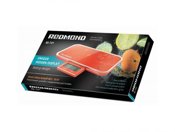 Весы кухонные Redmond RS-721 электронные красный весы кухонные электронные redmond rs 724