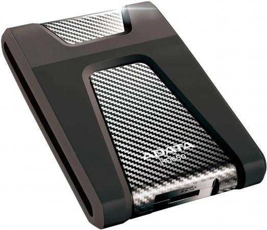 Внешний жесткий диск 2.5 USB3.0 1Tb A-Data AHD650-1TU3-CBK черный