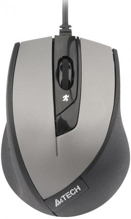 Мышь проводная A4TECH N-600X-2 V-Track Padless серый чёрный USB мышь проводная a4tech n 350 2 чёрный красный usb