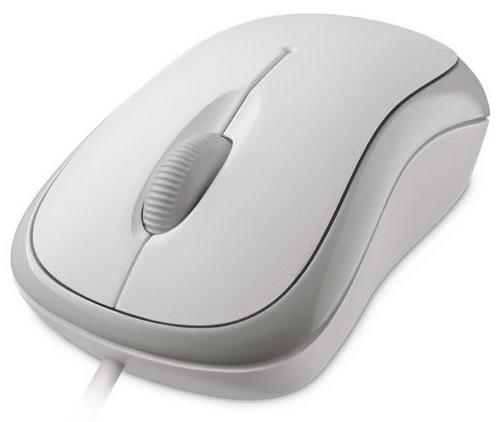 Мышь проводная Microsoft Basic P58-00060 белый USB цена и фото