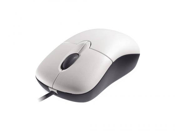 все цены на Мышь проводная Microsoft Basic P58-00060 белый USB онлайн