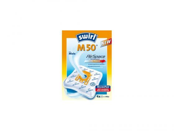 Пылесборник Swirl M50/M 51/M53 Airspace 4шт + 1микрофильтр для Miele swirl s 66