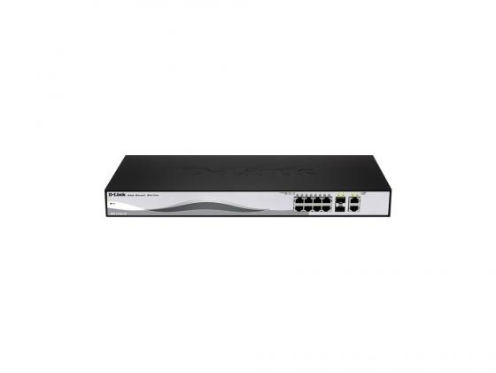 Коммутатор D-LINK DES-1210-10/ME/B1A управляемый 8 портов 10/100Mbps 2x combo GbLAN/SFP коммутатор cisco sg200 50 48 портов 10 100 1000mbps 2x combo gblan sfp slm2048t eu