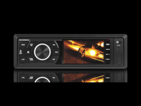 Автомагнитола Soundmax SM-CCR3082M USB MP3 FM RDS SD MMC 1DIN 4x45Вт черный leader kids постельное белье енот 7 пред leader kids бязь розовый
