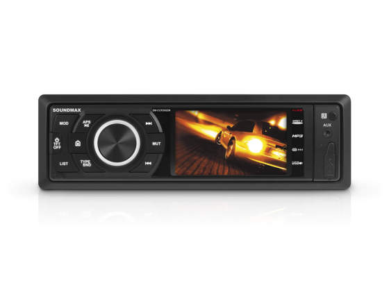 Автомагнитола Soundmax SM-CCR3082M USB MP3 FM RDS SD MMC 1DIN 4x45Вт черный автомагнитола rolsen rcr 253r бездисковая usb mp3 fm sd mmc 1din 4x45вт черный