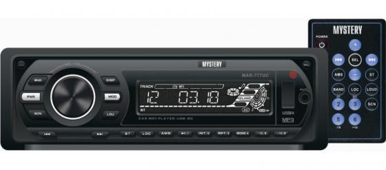 Автомагнитола Mystery MAR-777UC бездисковая USB MP3 FM SD MMC 1DIN 4x50Вт пульт ДУ черный