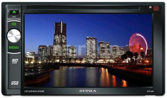 "Фото Автомагнитола Supra SWD-607NV 6.2"" 800х480 USB MP3 CD DVD FM SD MMC 2DIN 4x50Вт пульт ДУ черный"
