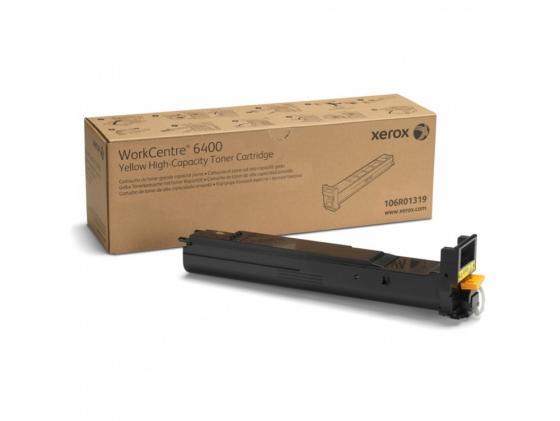 Фото - Тонер-Картридж Xerox 106R01319 для WC 6400 желтый 14000стр фотобарабан xerox 108r00777 желтый для wc 6400 30000стр