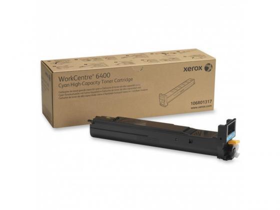 Тонер-Картридж Xerox 106R01317 для WC 6400 голубой 14000стр