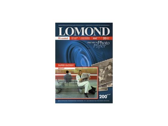 Фото - Фотобумага Lomond A4 200г/м2 20л суперглянцевая 1101112 фотобумага lomond a4 170г кв м супер глянцевая 1101101 20л
