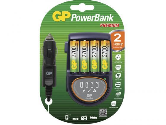 Зарядное устройство + аккумуляторы 2700 mAh GPBI PB50GS270CA-2CR4 AA 4 шт зарядное устройство gp u411270wa12fradapt 2cr4 10 аккумуляторы aa 2600mah 4шт