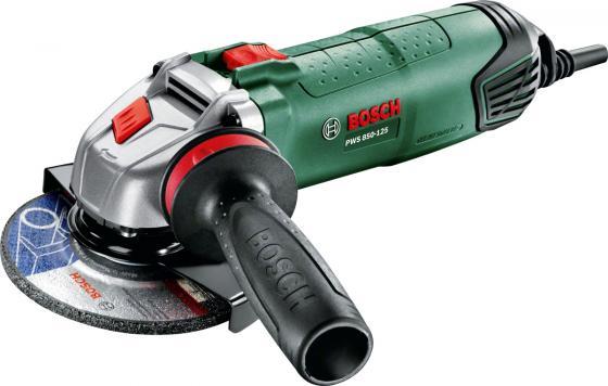 Угловая шлифмашина Bosch PWS 850-125 850Вт 125мм шлифмашина угловая metabo w 850125 125мм 850вт 601233010