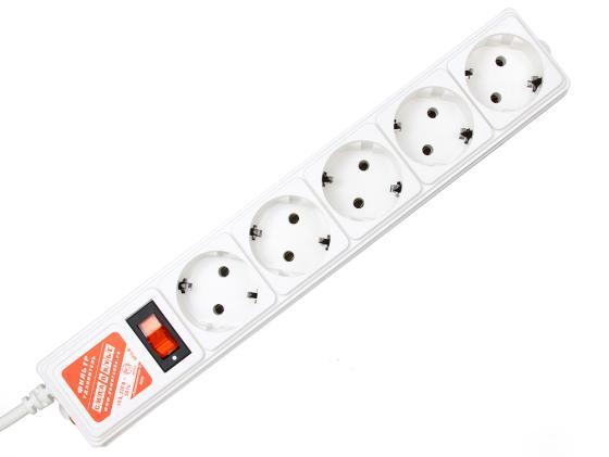 все цены на  Сетевой фильтр Power Cube SPG-B15 5 розеток 5 м белый  онлайн