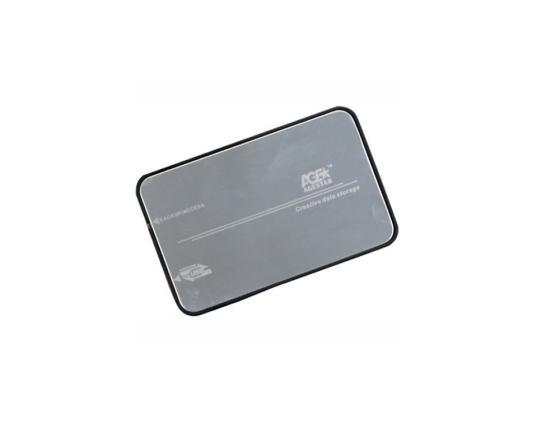 "Внешний контейнер для HDD 2.5"" SATA AgeStar 3UB2A8S-6G USB3.0 серебристый контейнер для hdd agestar 3u2b2a"