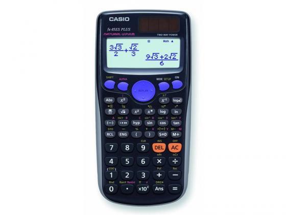 Калькулятор Casio FX-85ESPLUS двойное питание 12 разряда научный 252 функций черный калькулятор casio fx 220plus s eh