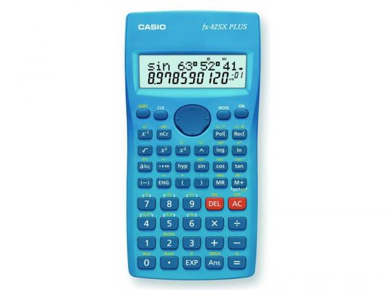 Калькулятор Casio FX-82SXPLUS питание от батареи 12 разряда научный 177 функций синий калькулятор casio fx 82sxplus питание от батареи 12 разряда научный 177 функций синий