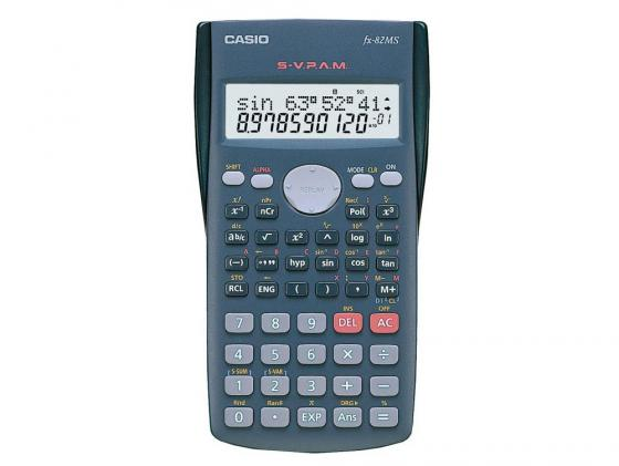 Калькулятор Casio FX-82MS питание от батареи 12 разряда научный 240 функций серый калькулятор casio fx 220plus s eh