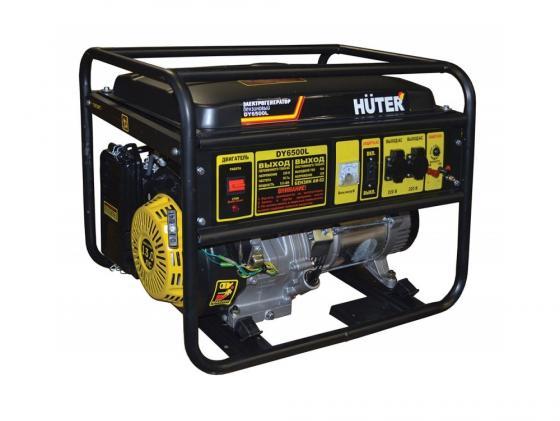Генератор Huter DY6500L электростартер 5000Вт генератор бензиновый huter dy6500l