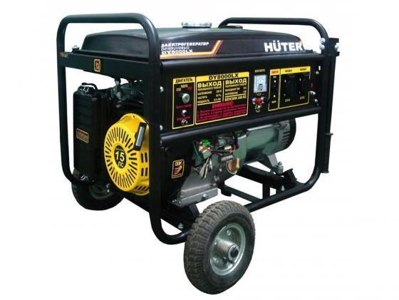 Генератор Huter DY8000LX 6500Вт генератор бензиновый huter dy8000lx