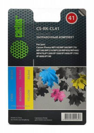 Заправка Cactus CS-RK-CL41 для Canon MP150/MP160/MP170/MP180/MP210 цветной чернила cactus cs cl41 желтый yellow 100мл для canon pixma mp150 mp160 mp170 mp180 mp210 mp220