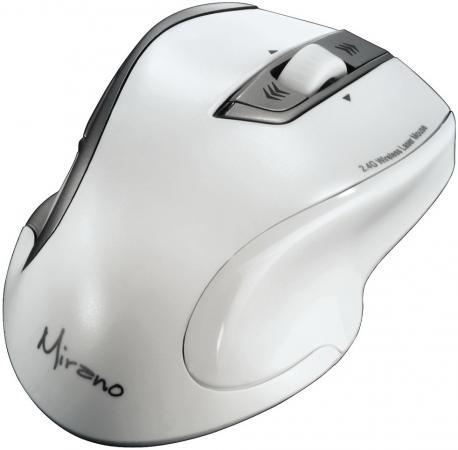 Мышь беспроводная HAMA Mirano H-53878 белый USB + радиоканал мышь проводная hama urage h 62888 чёрный usb