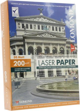 Бумага Lomond 0300341 A4 200г/м2 матовая двусторонняя бумага lomond a4 200г м2 глянцевая двухсторонняя 250л 0310341