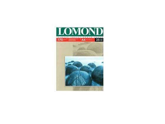 Фотобумага Lomond A4 170г/м2 25л глянцевая для струйной печати 102143 фотобумага lomond a4 130г кв м односторонняя глянцевая 25л 0102041