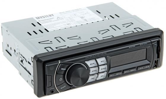 Автомагнитола Mystery MAR-929U USB MP3 FM SD MMC 1DIN 4x50Вт пульт ДУ черный
